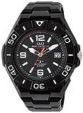 [シチズン キューアンドキュー]CITIZEN Q&Q 電波ソーラー腕時計 SOLARMATE スポーツタイプ アナログ表示 10気圧防水 ブラック HG14-305 メンズ