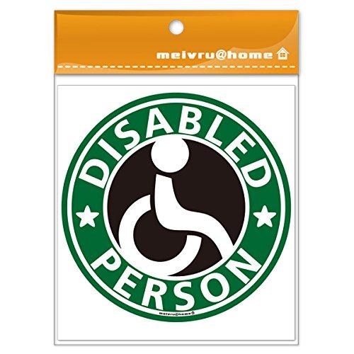 車椅子マーク ステッカー(グリーン)/ 福祉車両 車いす 車イス 身障者マーク