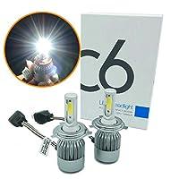 Heinmo 72W 7600LM 6000K H4 LEDライトH4ヘッドライト車車ハイ/ロービーム電球H / Lキット