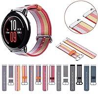 For Xiaomi huami Amazfitスマートウォッチバンド、prettyw編組ナイロン交換用リストバンド手首ストラップfor Xiaomi huami Amazfit Smartwatch
