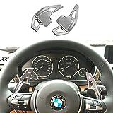 bmw パドルシフト ステアリング BMW シフト パドル エクステンション 高品質 3系 4系 5系 F10 F30 シリーズ シルバー K001-162
