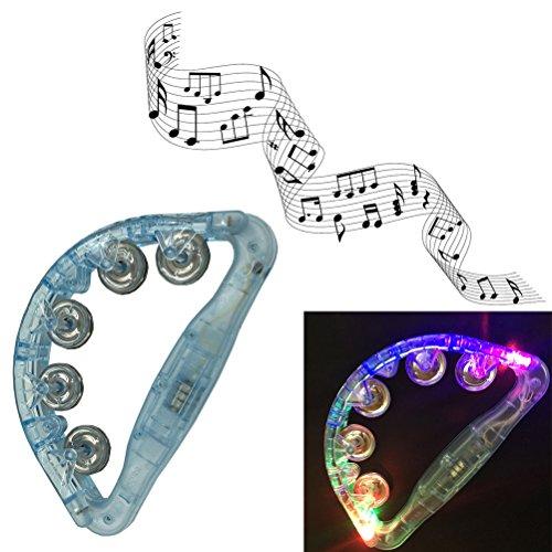 光る ハンドベル フレンドベル 発光LED タンバリン 楽器...