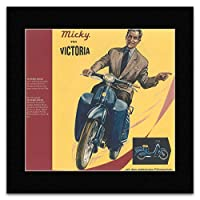 Scooters & Mopeds - Micky von Victoria Mini Poster - 40x40cm