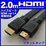 MOTION MotionTech HDMIケーブル 1.4準拠 HDMIフラットケーブル MT-H14BF020K