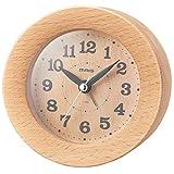 MAG(マグ) 置き時計 ナチュラル 9.8×9.8×5.5cm 目覚まし時計 アナログ ウッドアラームクロック 連続秒針 T-754N-Z