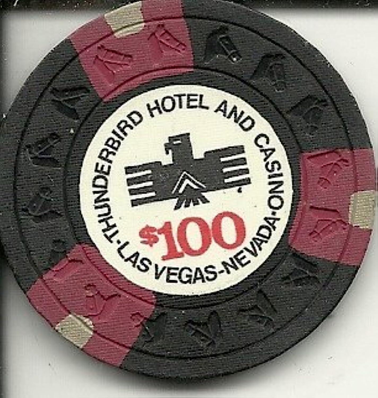 $ 100サンダーバードObsoleteラスベガスカジノチップSuper Rare
