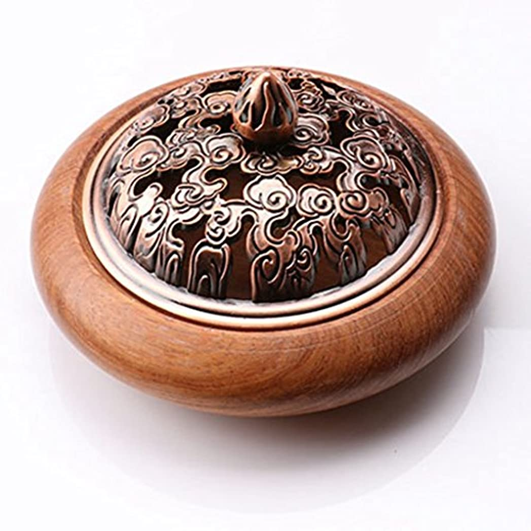 病気気球ダメージ(ラシューバー) Lasuiveur 香炉 香立て 渦巻き線香 線香立て お香立て 木製