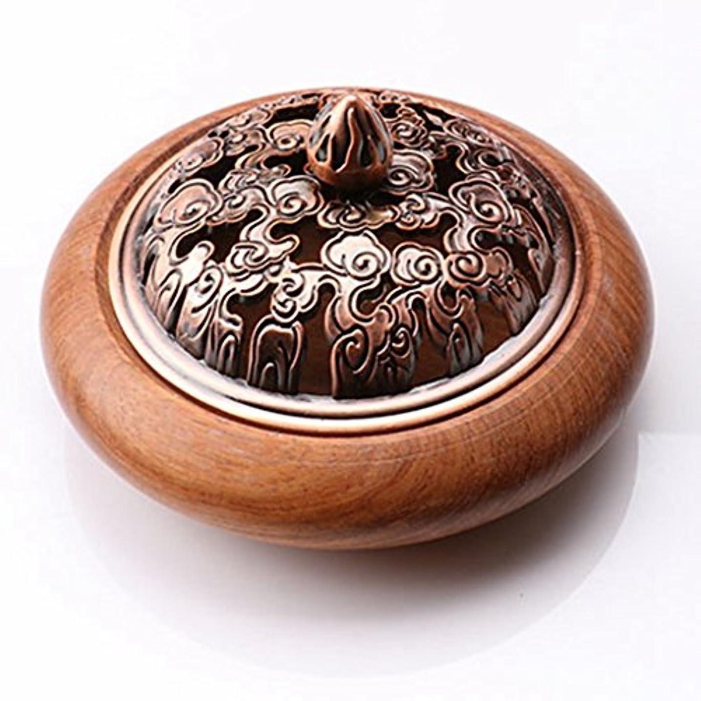 本土ブラインド瞑想する(ラシューバー) Lasuiveur 香炉 香立て 渦巻き線香 線香立て お香立て 木製