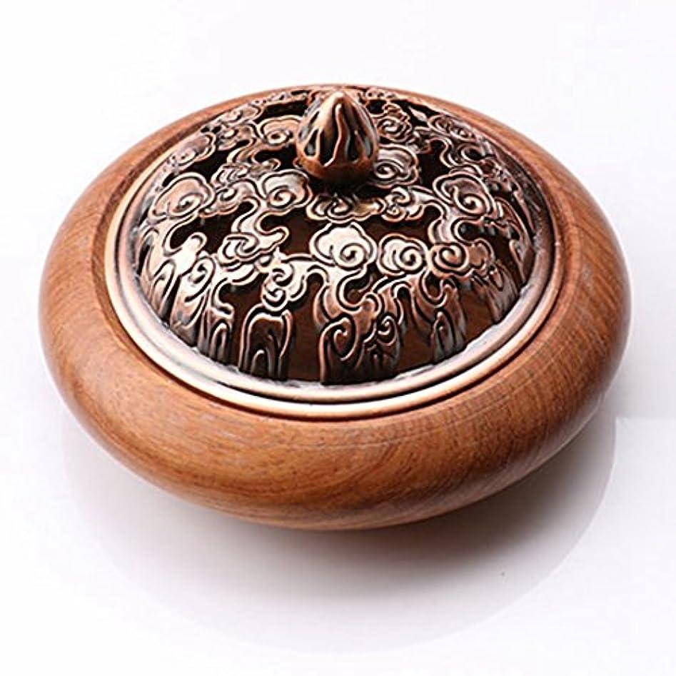 かんたん商人ボタン(ラシューバー) Lasuiveur 香炉 香立て 渦巻き線香 線香立て お香立て 木製