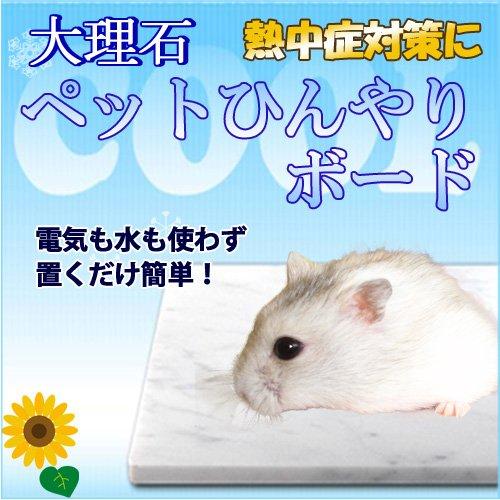 대리석에 애완동물 서늘 매트 냉각 타일 햄스터용 14×10cm 열사병・더위 대책 백계 대리석-