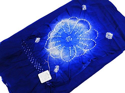 お子様用 ナイロン 絞り 兵児帯 キッズ 浴衣帯 (ブルー)