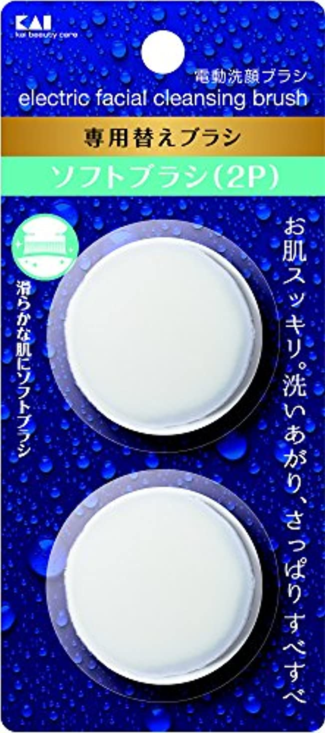 日光事業フルート電動洗顔ブラシ 替えブラシ ソフト 2個入