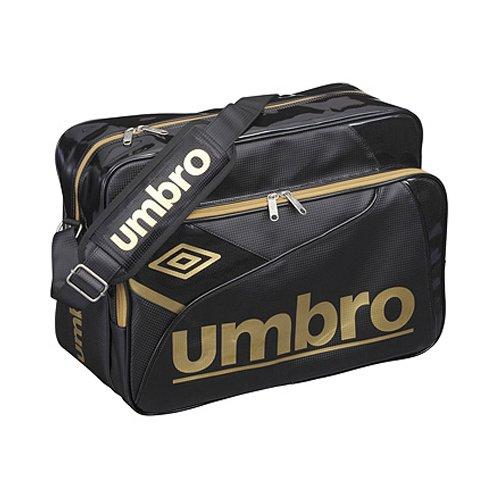 umbro(アンブロ) エナメル ショルダーバッグ Lサイズ ブラック×ゴールド ujs1310-BGD