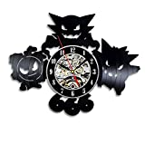 Pokemon Gift Wall Clock Vinyl Record Art Decor Vintage - Win a prize for feedback
