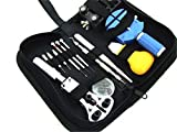 腕時計工具13点セット/時計ケース固定器(黒色)プラスチック製...