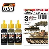 AmmoのMig Jimenezアフリカ軍団DAKセットアクリル色セット3 Jars 17 ml # 7102
