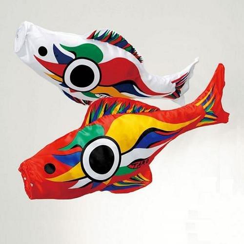 岡本太郎デザイン鯉のぼり 豆鯉 赤・白セット