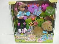 Mattel Shannen & Scooch人形とリモートコントロールRC Golden Retriever Puppy