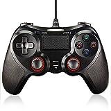 NIJIAKIN PS4 コントローラー 有線 ゲームパッド USB 振動機能搭載 PS4/PS3/PCに対応