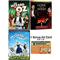 The Wizard of Oz + Gone with the Wind + The Sound of Music - 3 Classic Movies DVD Collection with Bonus Art Card [並行輸入品]