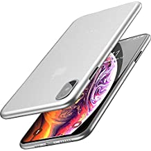 TOZO for iPhone Xs Case 5.8 Inch (2018) Ultra-Thin Hard Cover Full Body Slim Fit Shell [0.35mm] World's Thinnest Protect Bumper for iPhone 10s / Xs 5.8 inch [ Semi-transparent ] Lightweight with Design [Matte White]