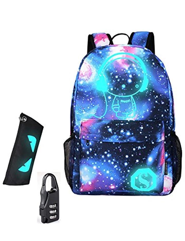 使役手伝う血まみれBackpack Galaxy Male Nylon Luminous Printing Backpack Travel School Bags for Teenage Girls