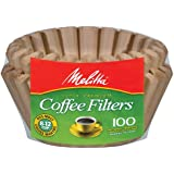 Melitta Basket Coffee Filters, Super 8-12 Cup (100 Count (Pack of 1), Natural Brown)