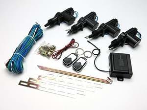 キーレスエントリーキット 12V 集中ドアロック 4ドア対応 汎用 アクチュエーター