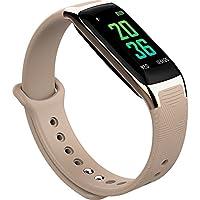 メンズと女性のBluetooth時計、スポーツ時計ハート血圧監視カラーステップカウンタ携帯電話損失スタンバイLong Smartwatches耐久性business-e