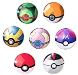 """AUCH 7pcs Funny Pokemon Goボール3dドーム冷蔵庫磁石おもちゃ–Perfect Party Favors、Office Dry Erase Board磁気ステッカー、冷蔵庫磁石、1.2"""" (¥ 7,339)"""