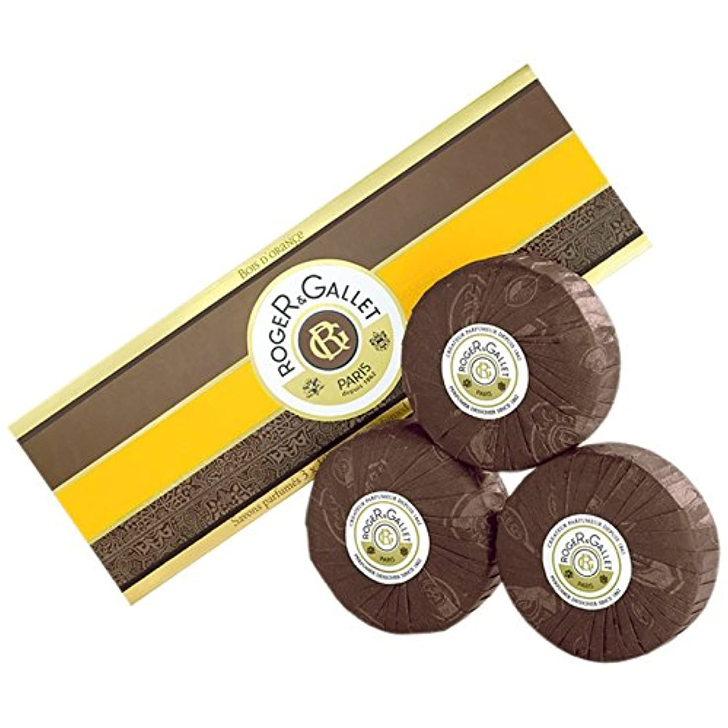 アラブ人効率非武装化ロジャー&GalletのBoisのドールオレンジソープ3つのX 100グラム (Roger & Gallet) (x6) - Roger & Gallet Bois D'Orange Soap 3 x 100g (Pack...