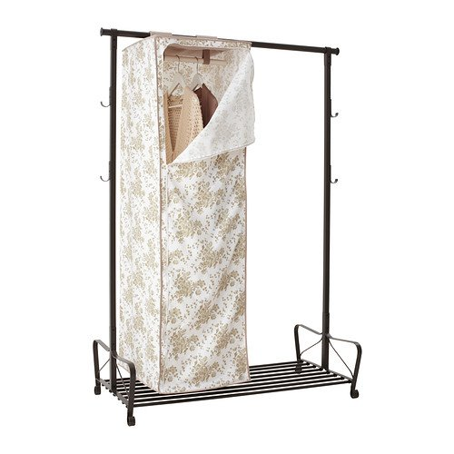 IKEA GARNITYR服Tidy Hangingワードローブホワイトベージュフラワー