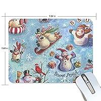 マウスパッド クリスマス 雪だるま 疲労低減 ゲーミングマウスパッド 9 X 25 厚い 耐久性が良い 滑り止めゴム底 滑りやすい表面