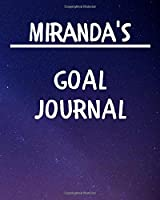 Miranda's Goal Journal: 2020 New Year Planner Goal Journal Gift for Miranda  / Notebook / Diary / Unique Greeting Card Alternative