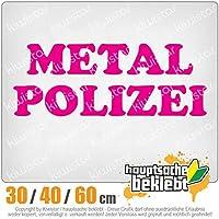 KIWISTAR - Metal Police Heavy Hard Rock 15色 - ネオン+クロム! ステッカービニールオートバイ