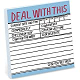 1-Count Knock Knock Deal with This Hand-Lettered Sticky Notes, to Do Pads, 3 x 3-inches Each
