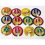 Style OK Laddu Gopal Dresses Laddu Gopal Dress Bal Gopal Poshak Vastra Kanha Ji Dress Multicolour for Size Double 0 Kanha Ji