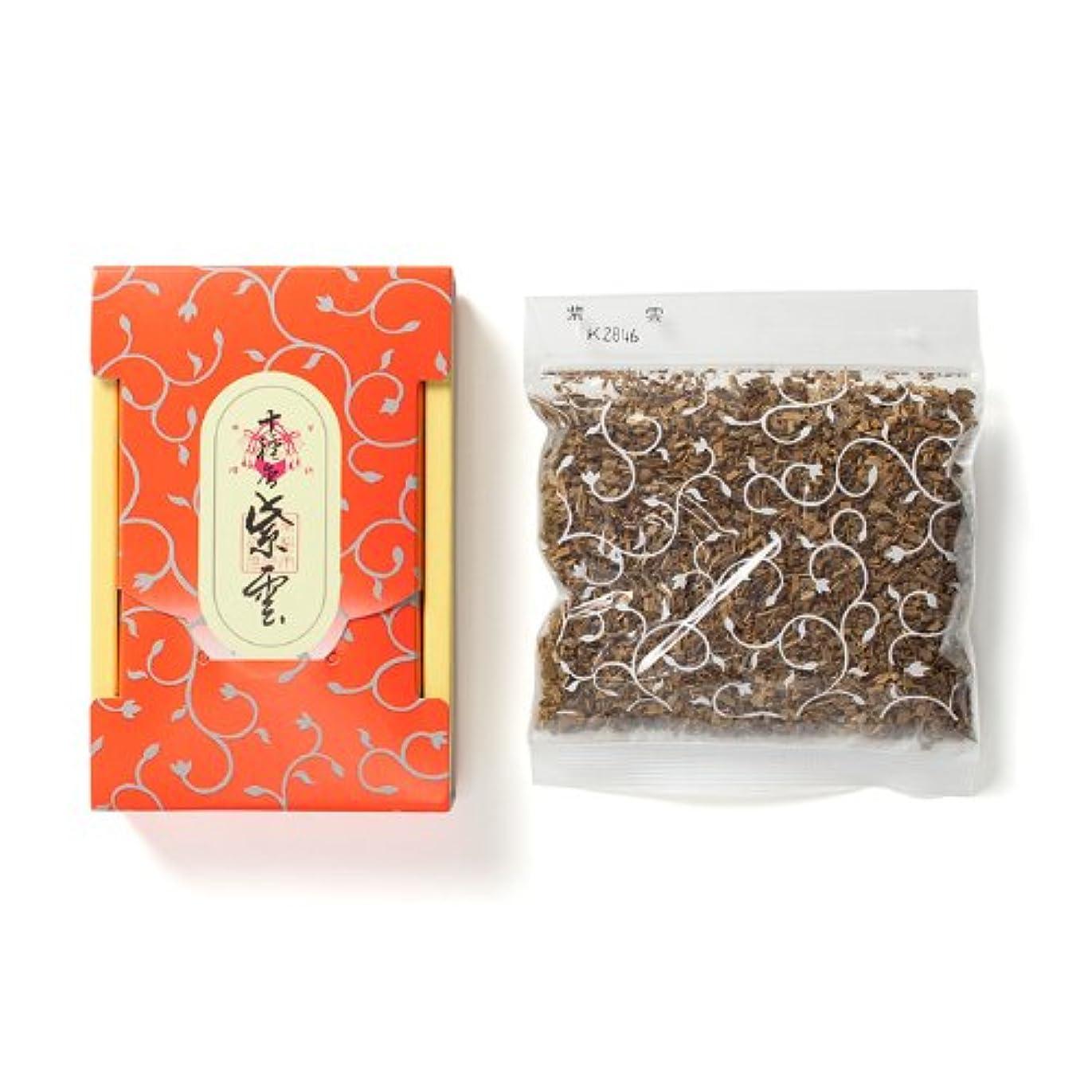 弾力性のあるバッフルピンク松栄堂のお焼香 十種香 紫雲 25g詰 小箱入 #410941