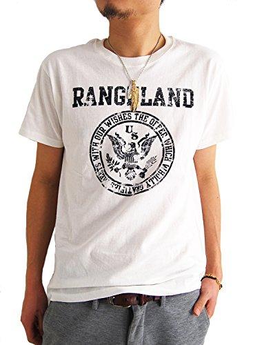 ARCADE(アーケード) 25color アメカジ ロゴプリント Tシャツ メンズ E柄オフホワイト M