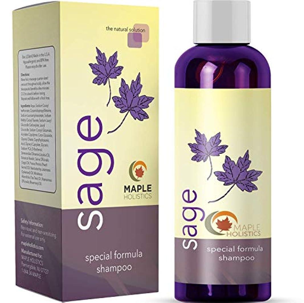 祭司問題医薬品Maple Holistics Sage Shampoo with Jojoba, Argan, and Organic Tea Tree Oil - Natural, Sulfate Free Treatment for Women and Men - Safe for Color Treated Hair (8 fl. oz.) 【並行輸入品】