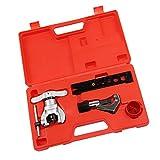 Fenteer 偏心 フレア ツール キット メトリック 5mm-19mm 冷蔵銅管に対応 チューブフレアツール
