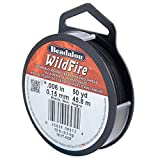 ビーダロン ワイルドファイアー ビーディングスレッド ブラック(WildFire ビーズ用糸) (161T-008)