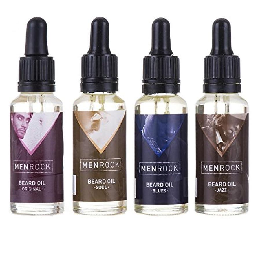 甲虫続編文房具男性岩ひげ油回収 x4 - Men Rock Beard Oil Collection (Pack of 4) [並行輸入品]