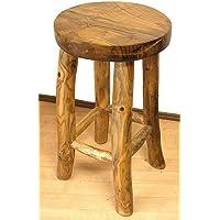 アジアン雑貨 天然木チークの椅子 スツール L [H.約60cm]