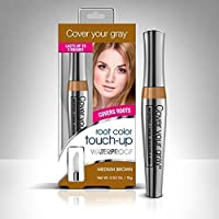 Cover Your Gray Waterproof Root Touch-Up Medium Brown 0.53 Ounce [並行輸入品]