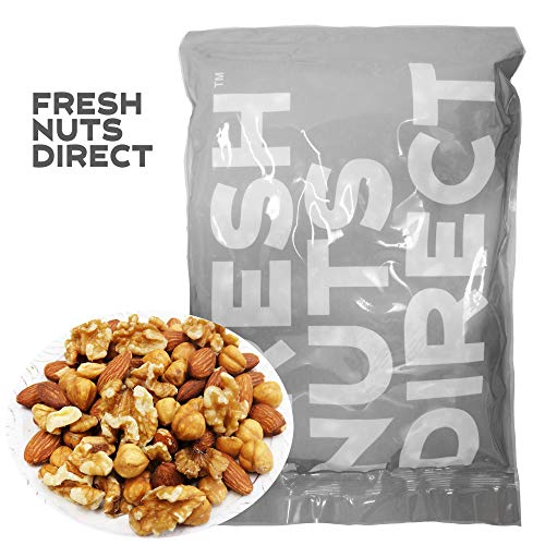 低糖質ミックスナッツ 1kg (新鮮生くるみ、素焼きヘーゼルナッツ、素焼きアーモンド) ロカボナッツ