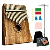 Ationgle Luxury Kalimba - 17 Keys Thumb Piano Include Tuning Hammer and Study Instruction. Unique Gift for Kids Adult Beginners Professionals, Classic Brown