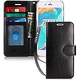 FYY iphone 8 plus case, iphone 7 plus case, [RFID Blocking wallet] Handmade Preminum PU Leather Wallet Case for iPhone 8 Plus/7 plus Black