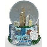 Chicago Windy City Musical Snow Globe Glitterdome 100mm Skyline Replica