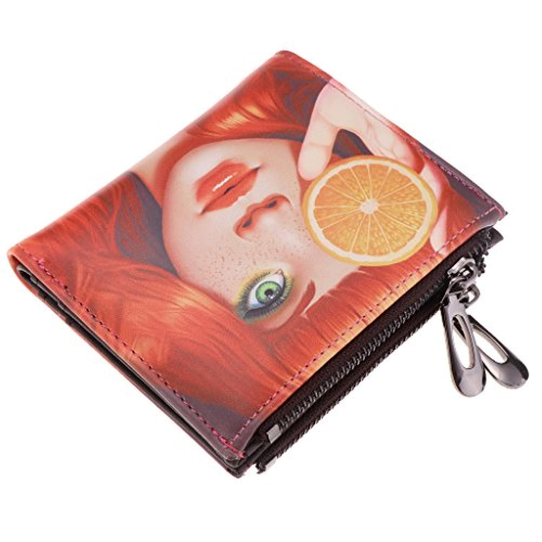 Perfeclan カード コイン小銭入れ 二つ折り財布 レディース 漫画 PUレザー 日常 贈り物 多色選べ